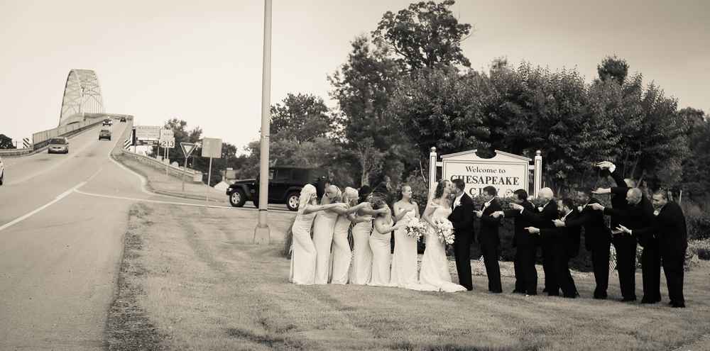 Wedding Party Having Fun Chesapeake City MD | Frederick Maryland Wedding Photographer