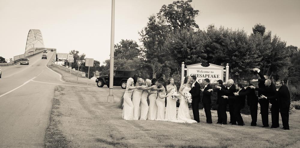 Wedding Party Having Fun Chesapeake City MD | Frederick Maryland Wedding Photographer