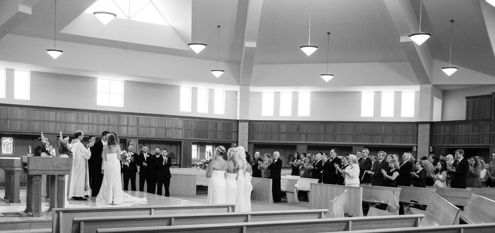 Panoramic View Wedding Ceremony Chesapeake City MD | Frederick Maryland Wedding Photographer