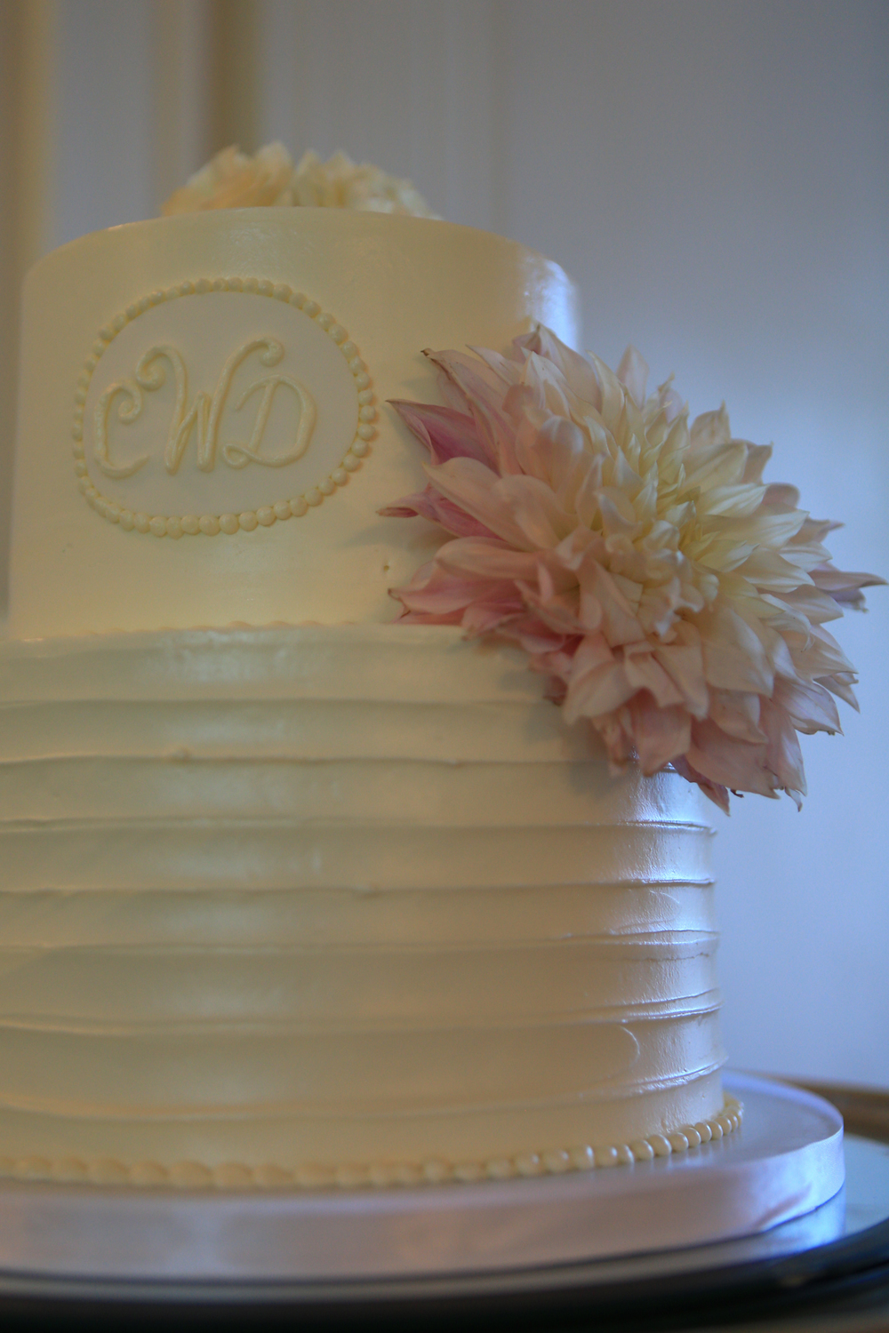 Whitehall Estates Wedding Cake Photo Yellow and Pink