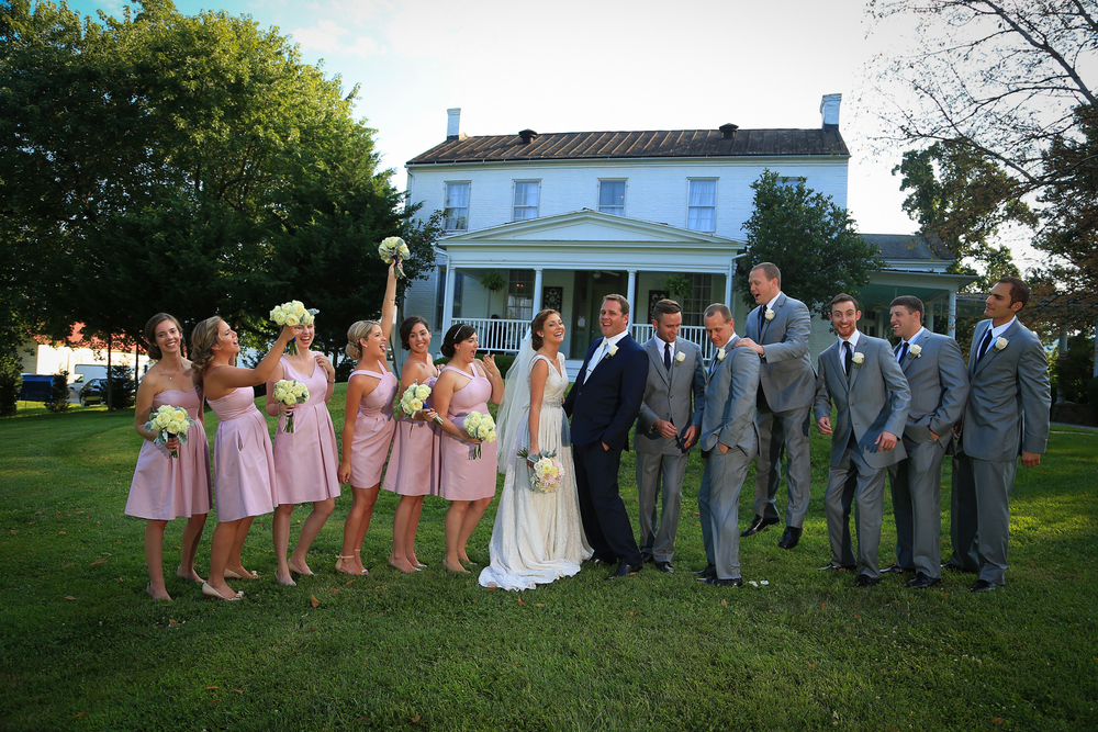 Whitehall Estates Wedding Party Photo Blues and Pinks