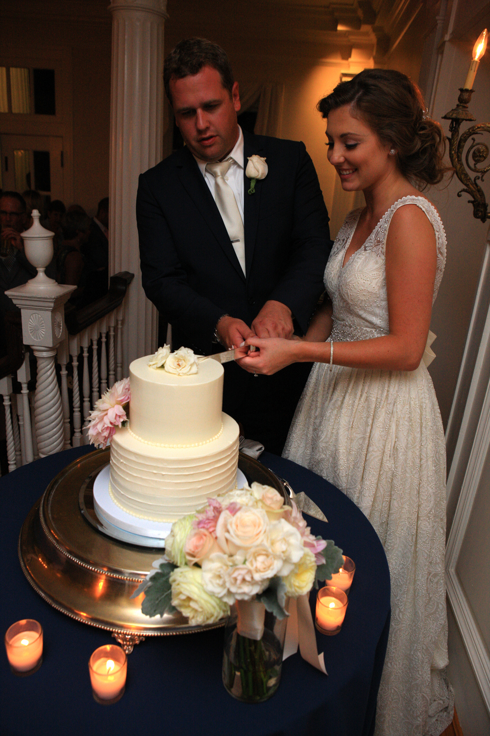 Whitehall Estates Bride Groom Cutting Wedding Cake
