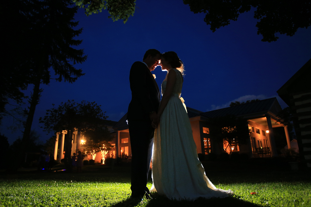Whitehall Estates Bride and Groom Twilight Photo