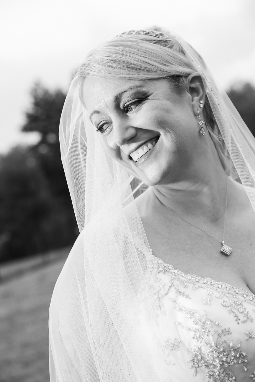 Bridal Portrait Black and White Photo