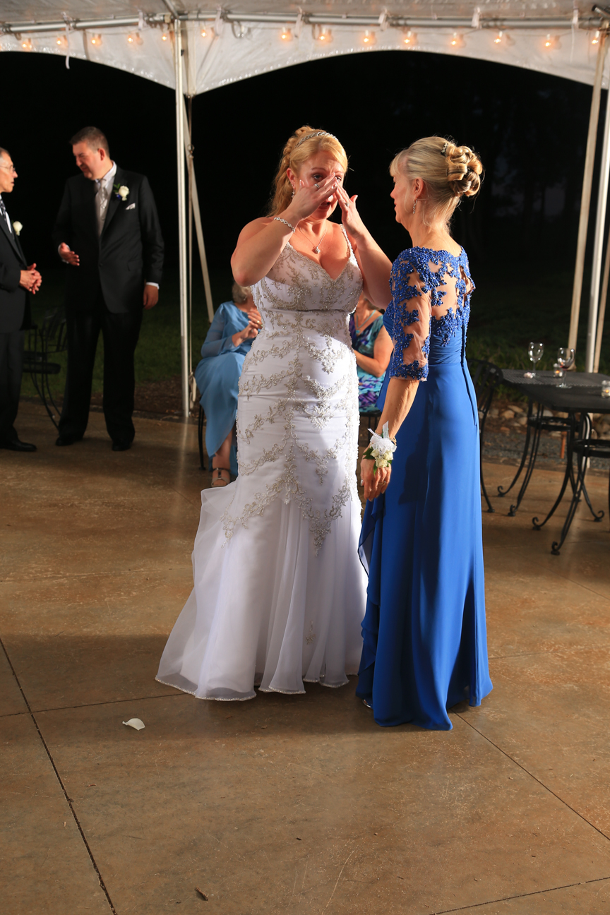 Mother and Bride Wedding Reception Photo