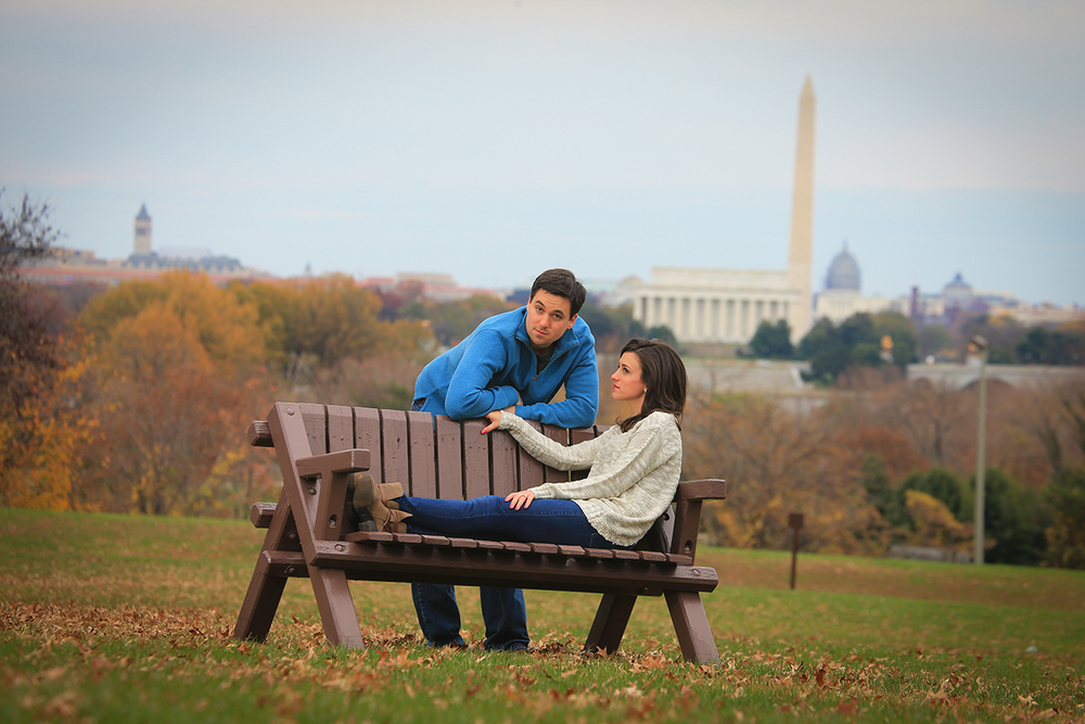 dc engagement photo
