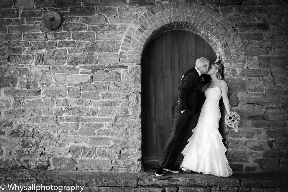 bride and groom door photo industrial wedding baltimore md