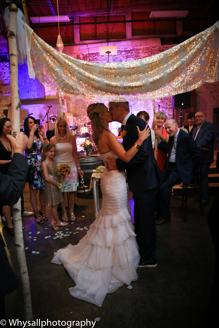 wedding ceremony photo industrial wedding baltimore md