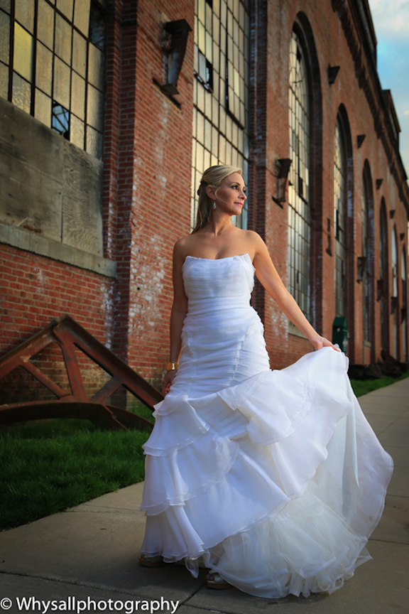 bridal portrait industrial wedding baltimore md