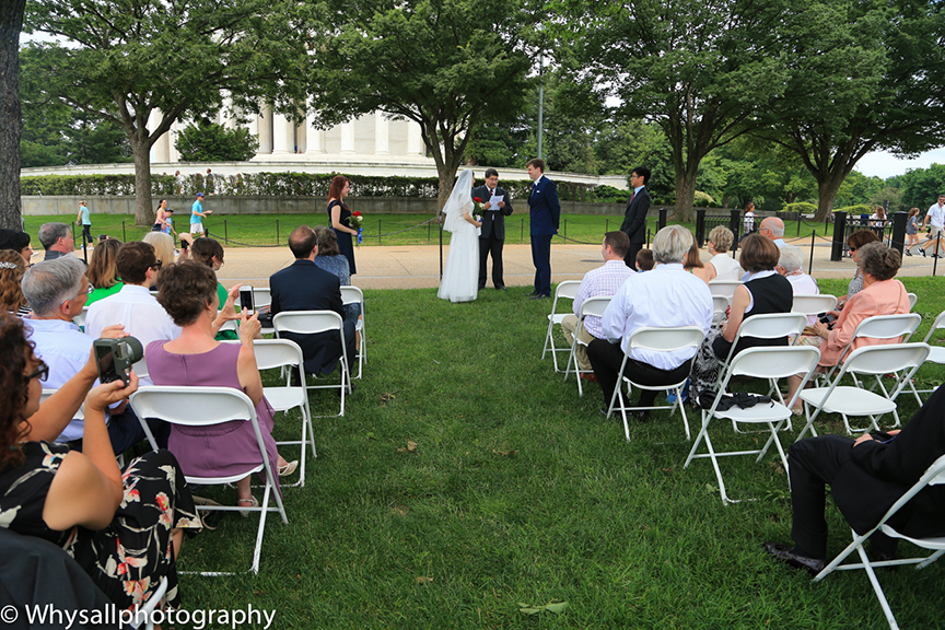 Wedding Ceremony Jefferson Memorial