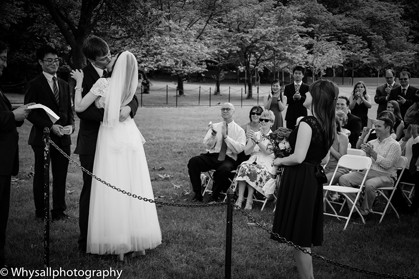 Kiss Wedding Ceremony Jefferson Memorial