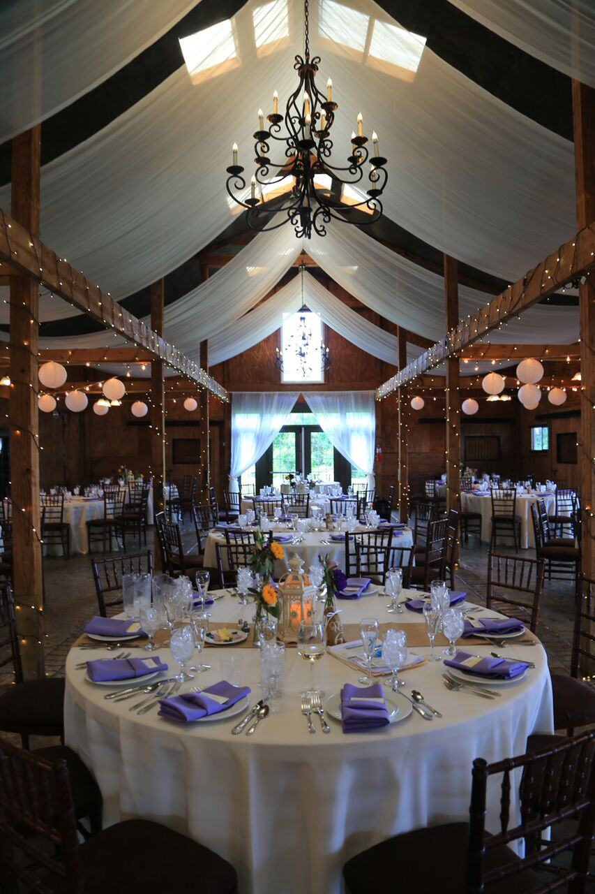bluemont winery wedding room detail photo