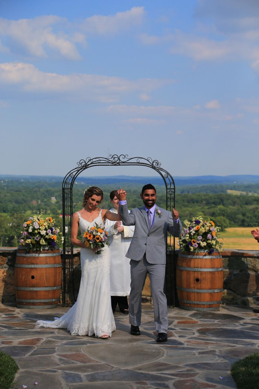 after wedding ceremony bluemont winery