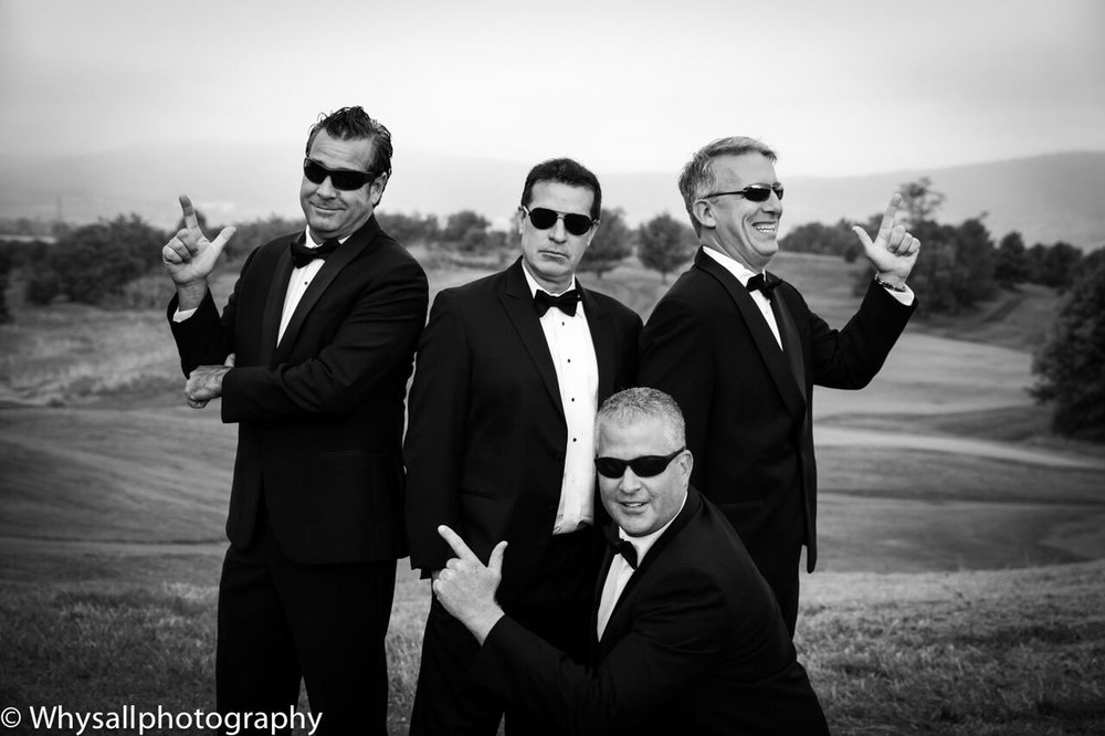 groom groomsmen having fun