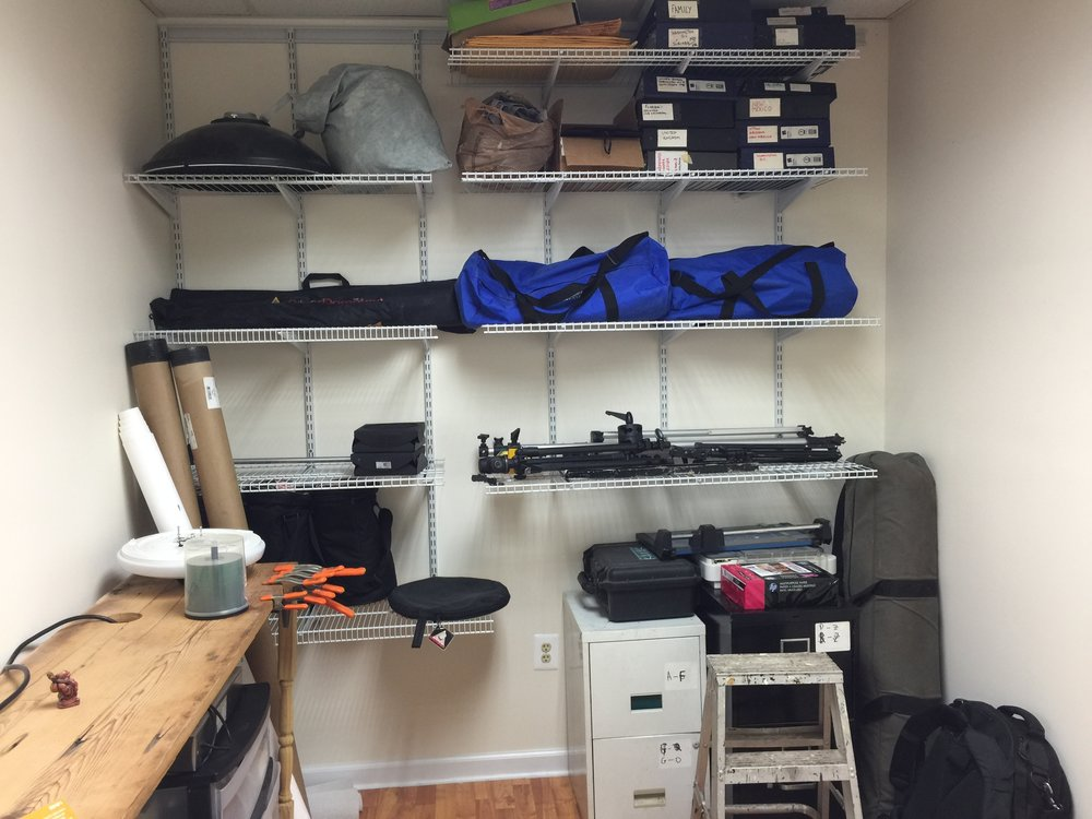 Studio storage rental closet