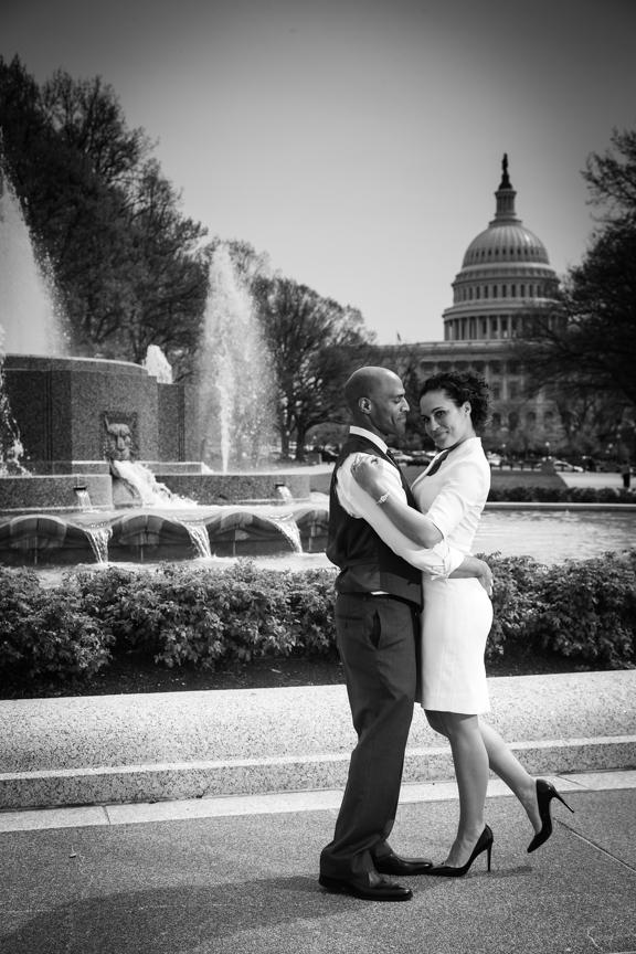 DC Engagement Portraits Vogue Style