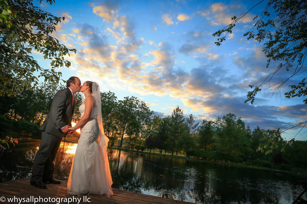 Wedding Photo Bride and Groom at Sunset