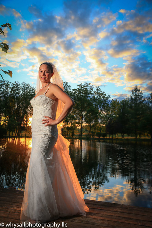 Wedding Photo Bridal Portrait at Sunset