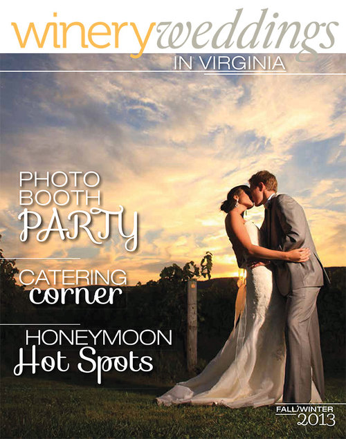 On Cover of Winery Weddings Magazine