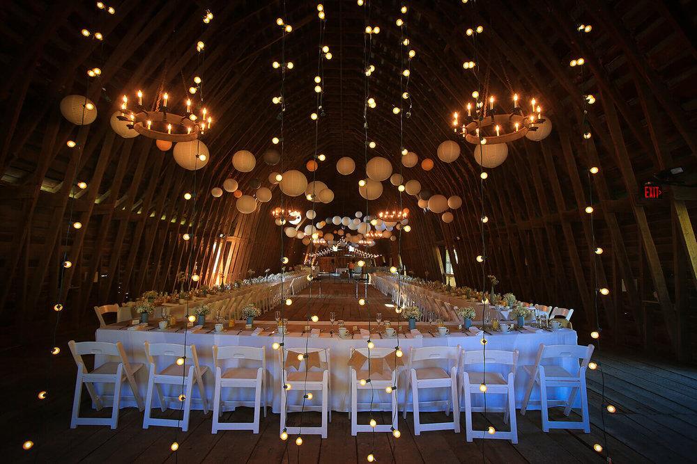 Wedding Reception Photo Barn