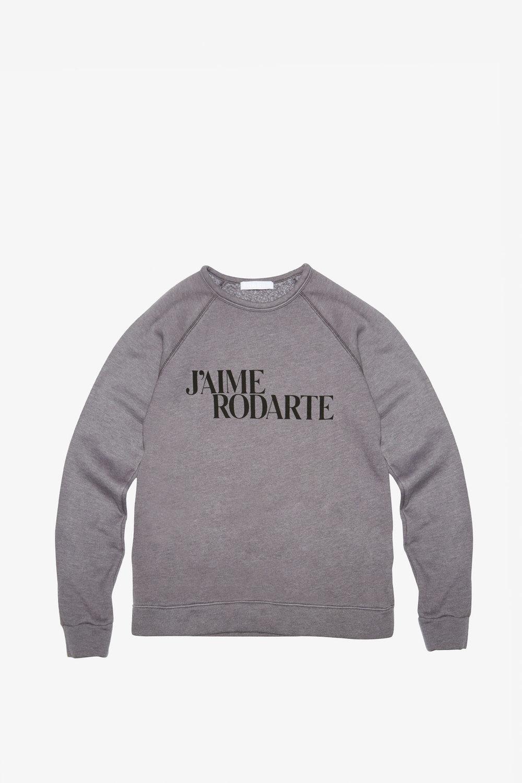 White Rosarte T-Shirt. 133.00. sold out.  Rodarte_Sweatshirt_LoveHate_Grey_01.jpg