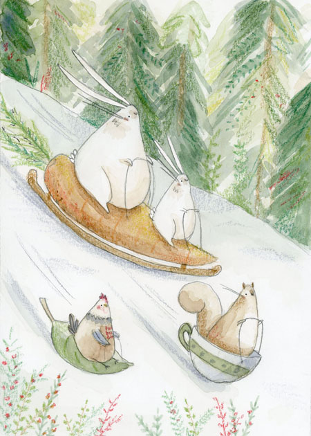 Sledding Rabbits