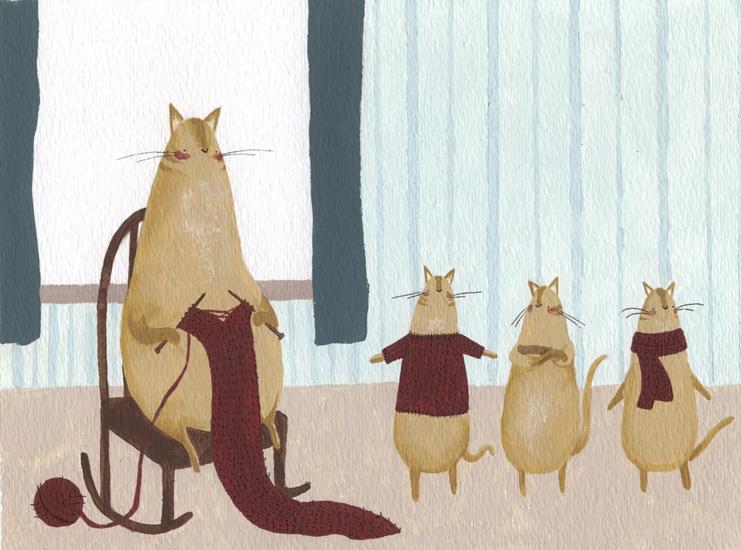 Knittin' Kitten