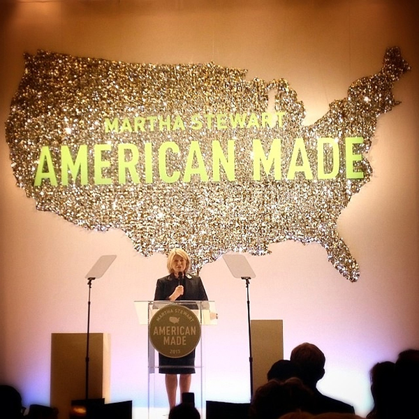 Martha addressing the attendees at the American Made event last fall.