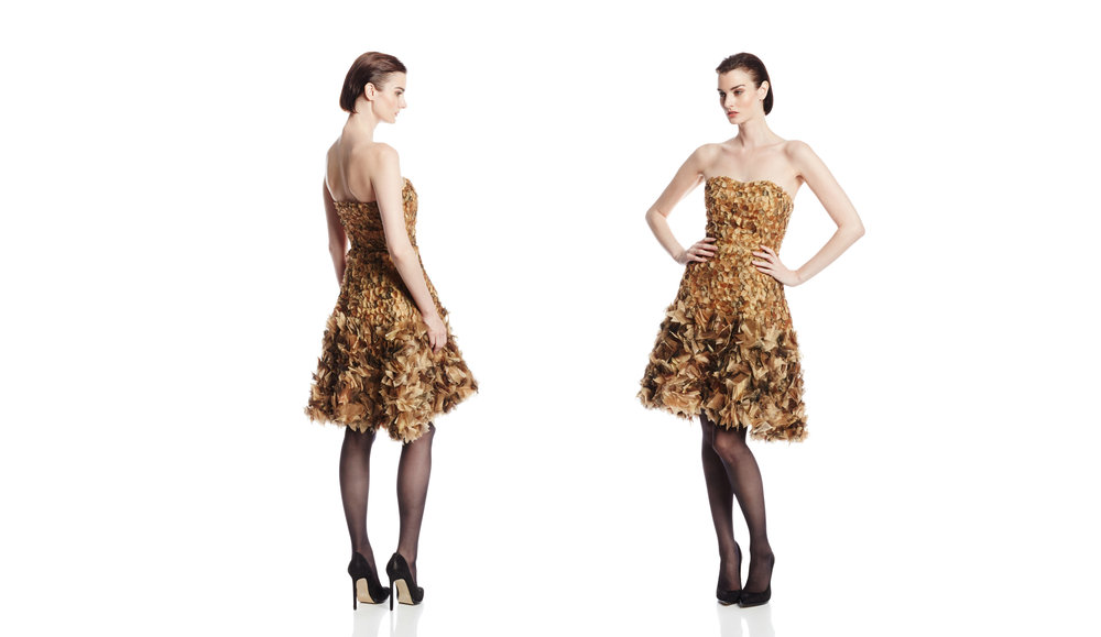 Gold Strapless Cocktail Dress.jpg