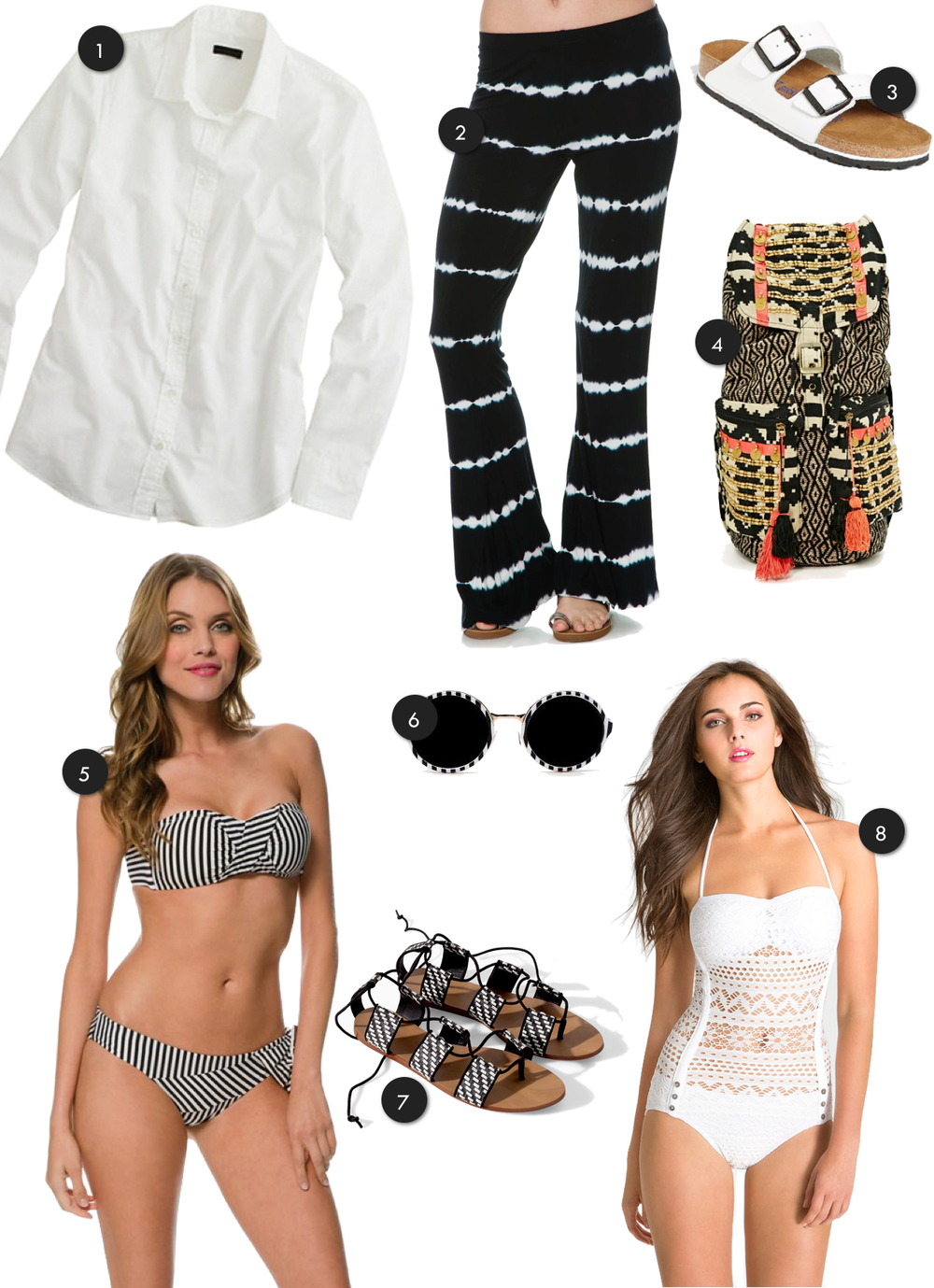 black & white beachwear | Birdie Shoots