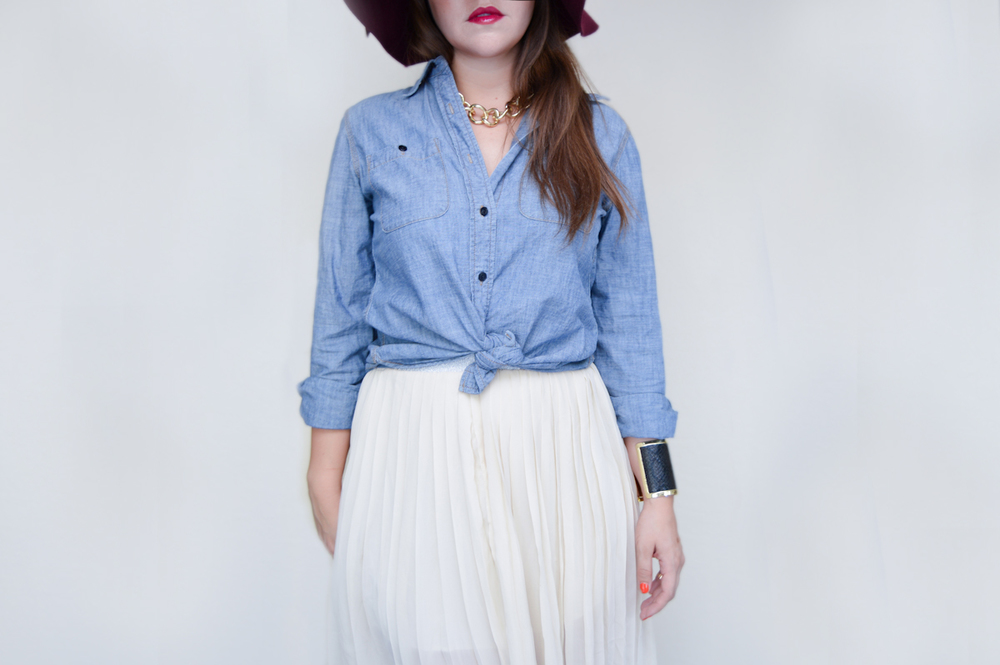 Chambray & Tulle Skirt