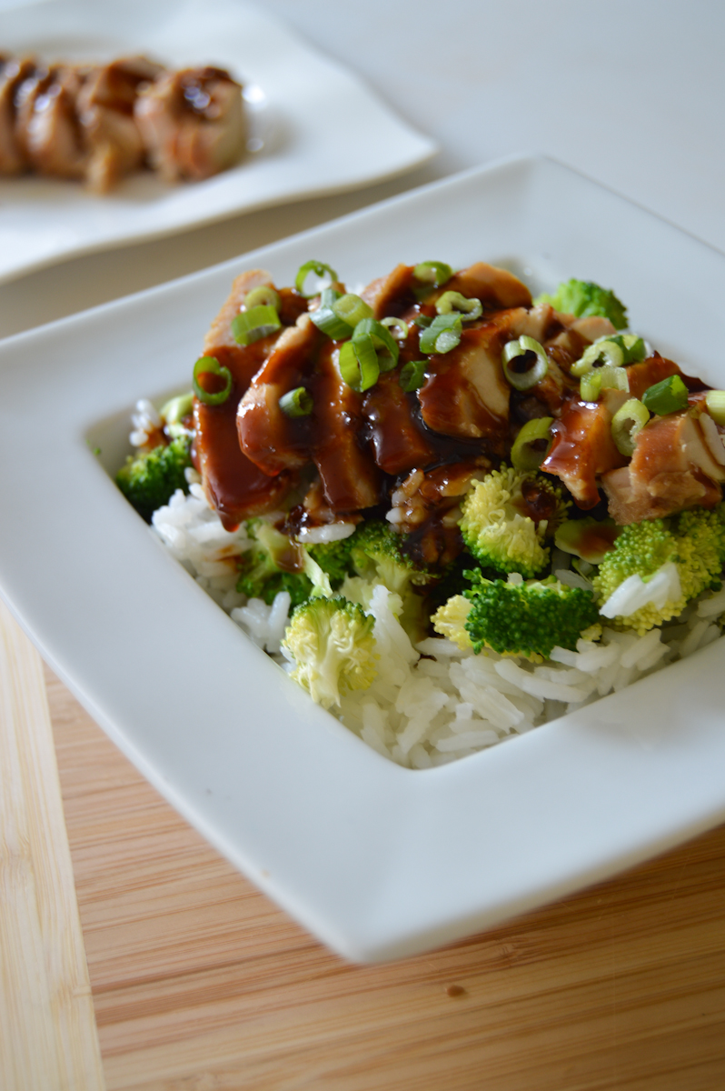 Teriyaki Chicken Rice Bowl via. Birdie Shoots