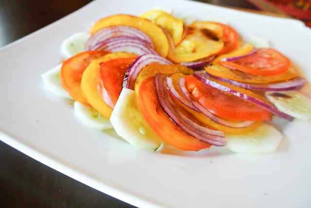 Fresh Tomato Salad via. Birdie Shoots
