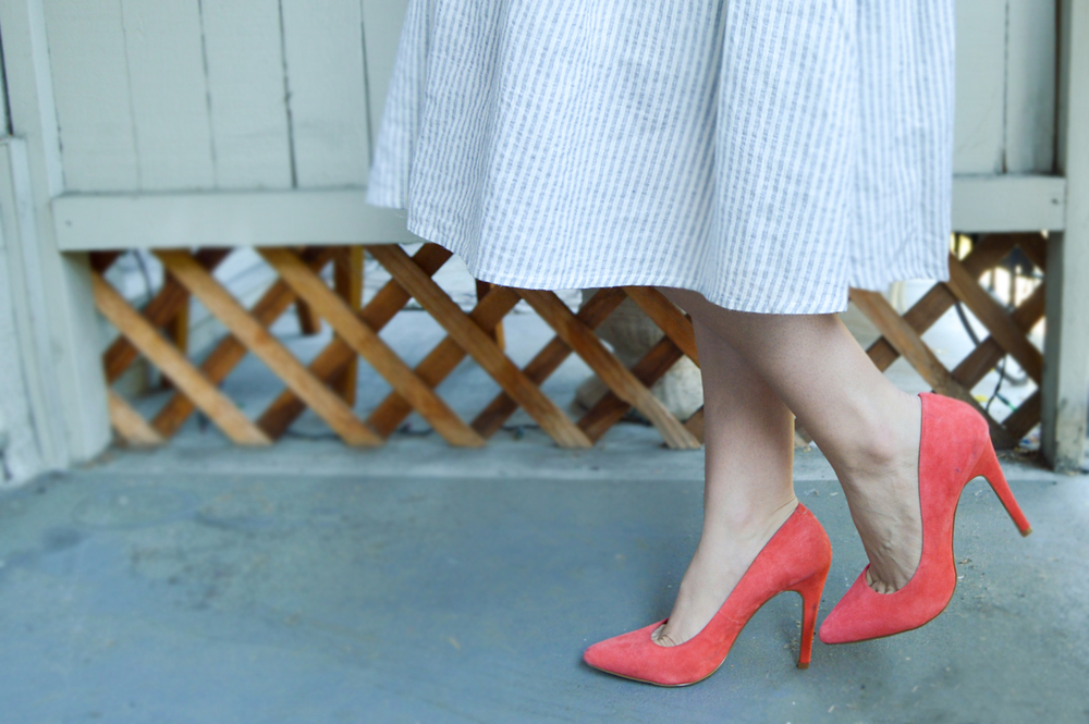 Crop Top & Midi Skirt via. Birdie Shoots