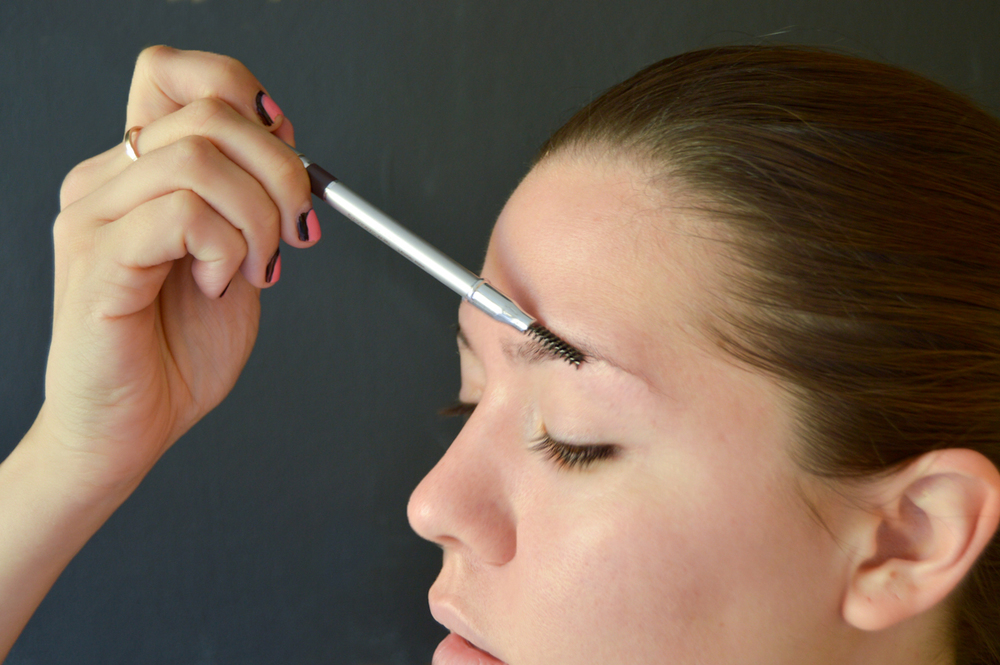 2. Using Universal Brow Pencil brush hair upwards and towards the edge of your eye.