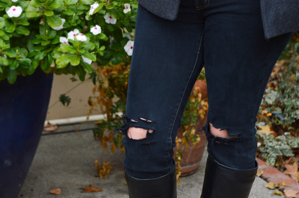Ripped Denim via. Birdie Shoots