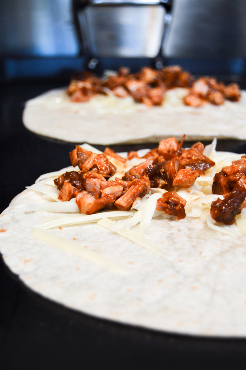 BBQ Chicken Quesadilla via. Birdie Shoots