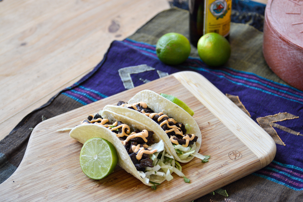 Korean Beef Tacos via. Birdie Shoots