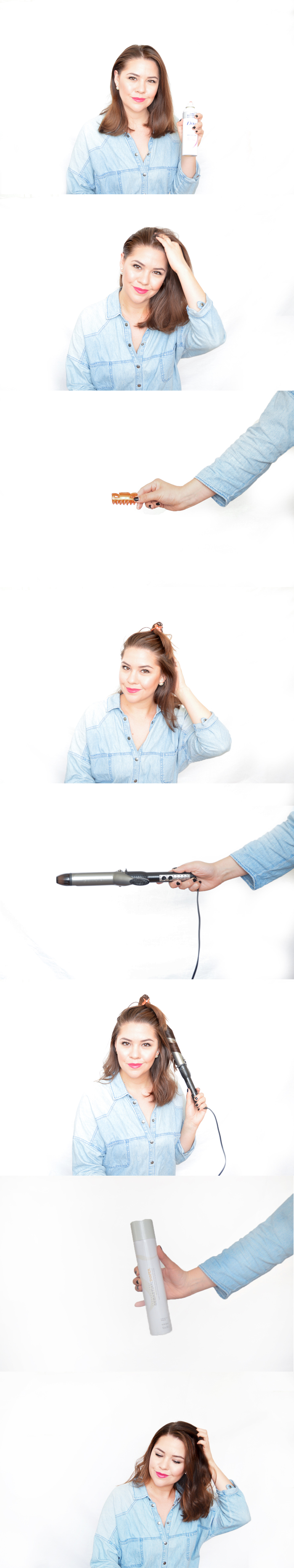 Relaxed Curl Tutorial via. www.birdieshoots.com