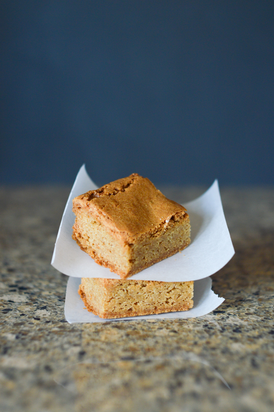 Brown Butter Blondies via. Birdie Shoots