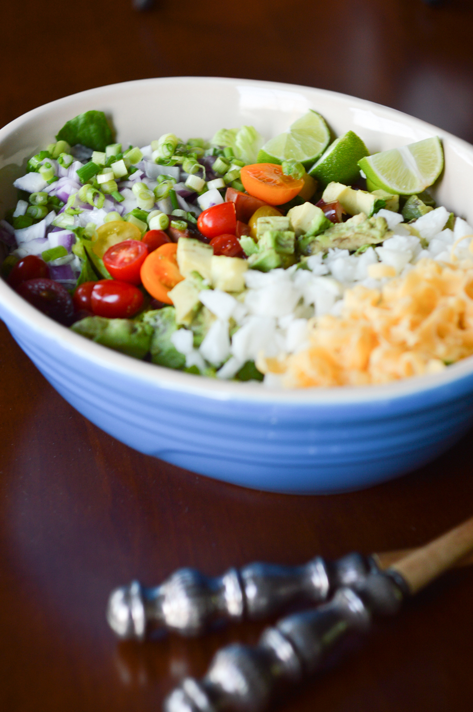 Chopped Salad Recipe via. Birdie Shoots