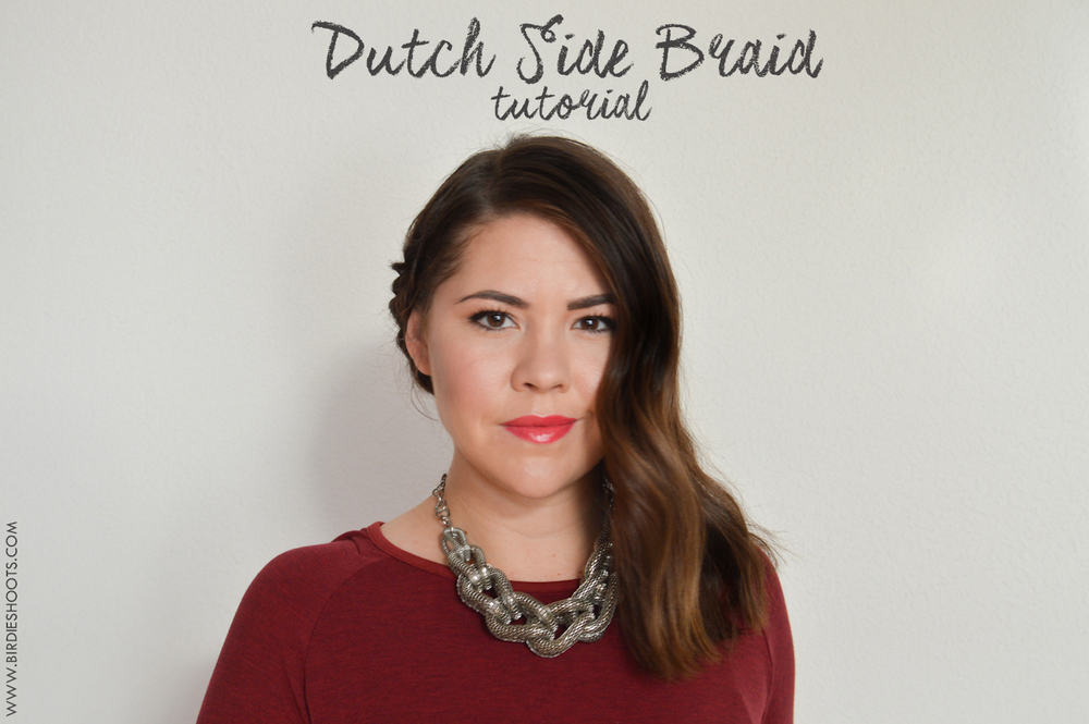 Dutch Side Braid tutorial via. Birdie Shoots