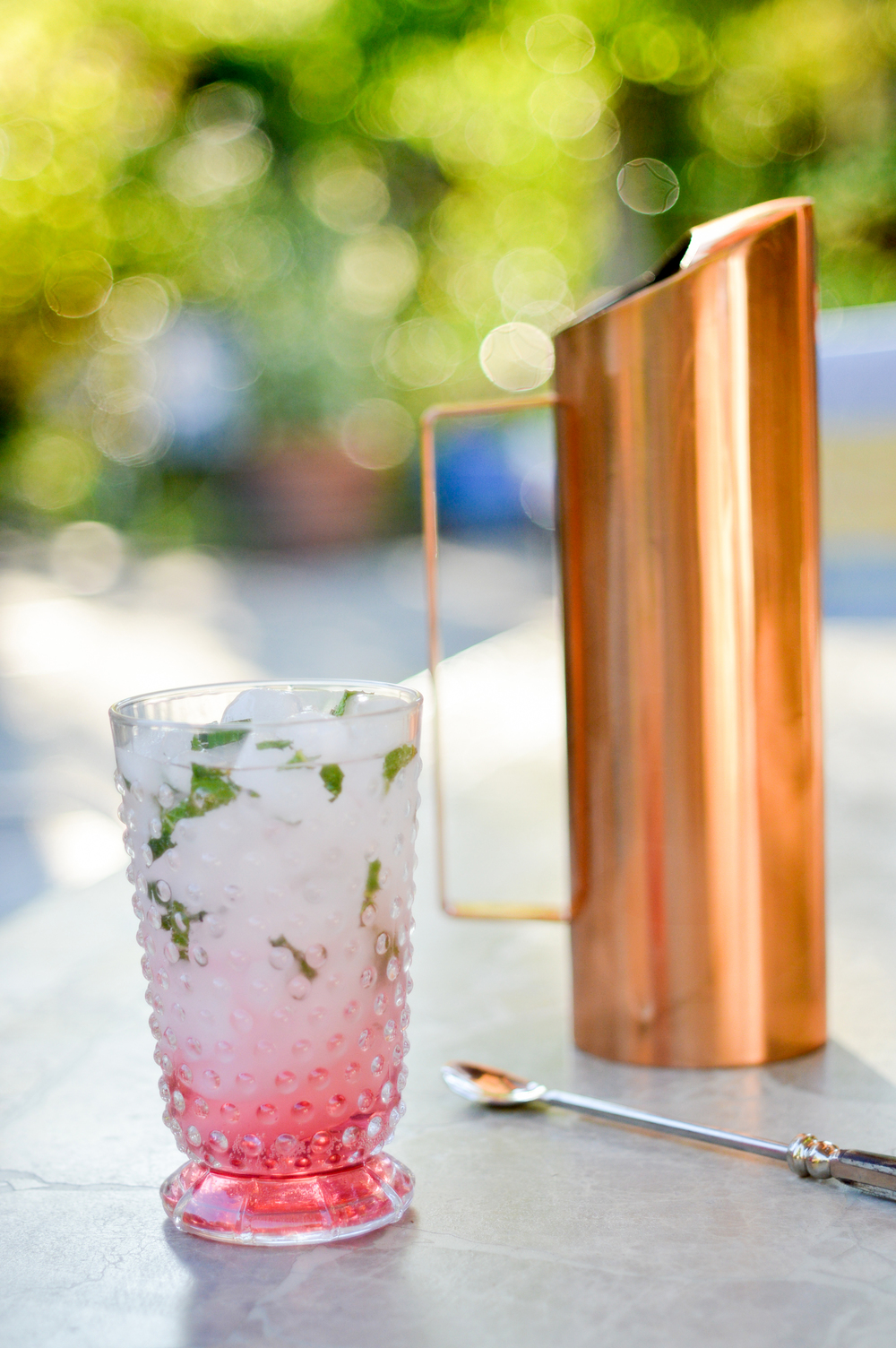 Hibiscus-Mint Iced Tea via. Birdie Shoots