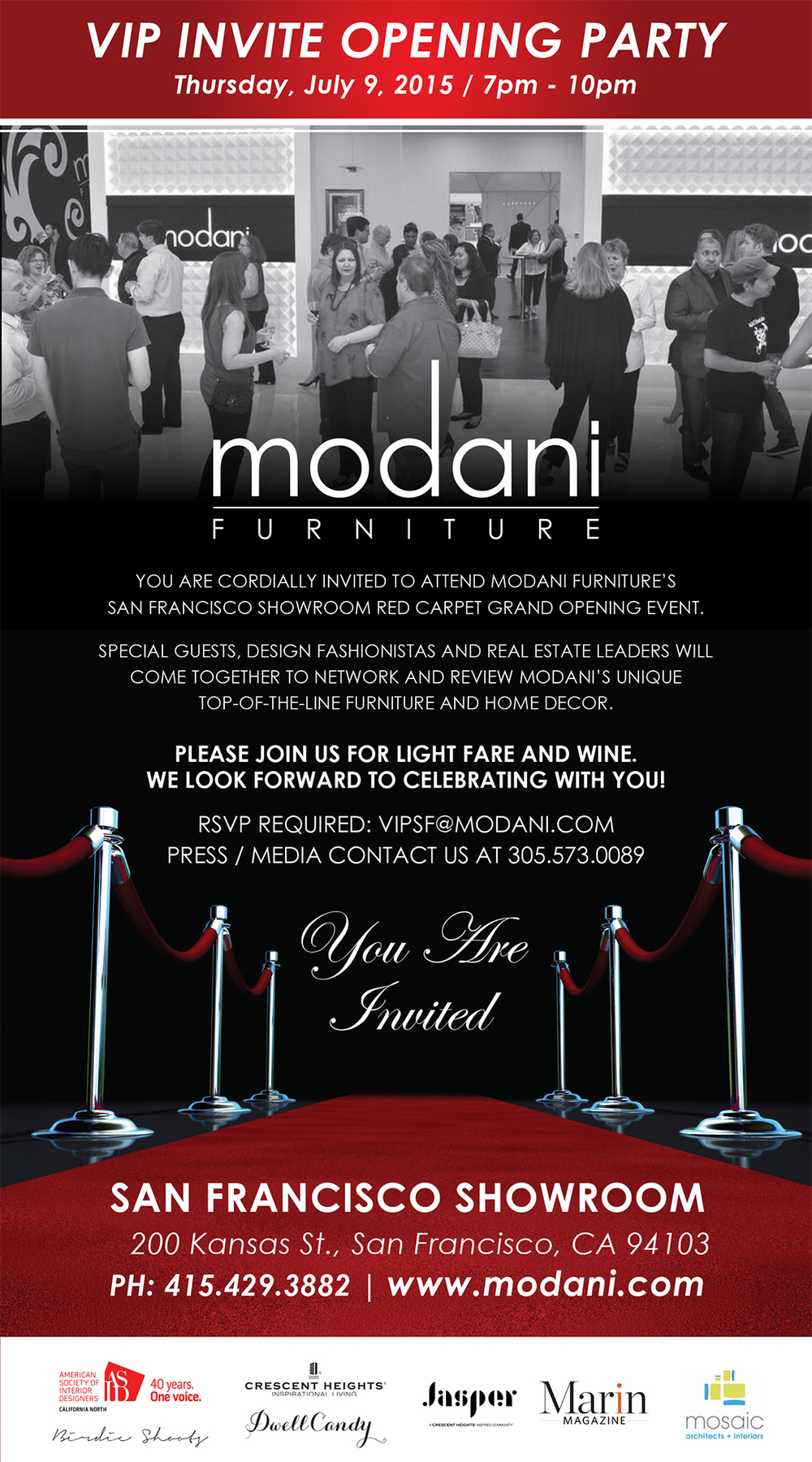 Red Carpet Grand Opening Event San Francisco Showroom