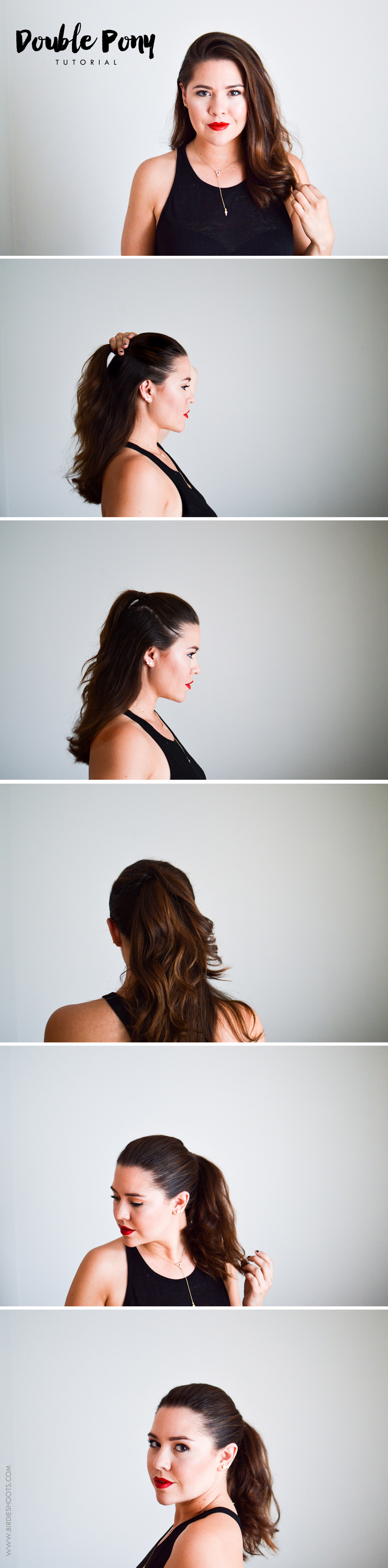Double Ponytail Tutorial via. Birdie Shotos