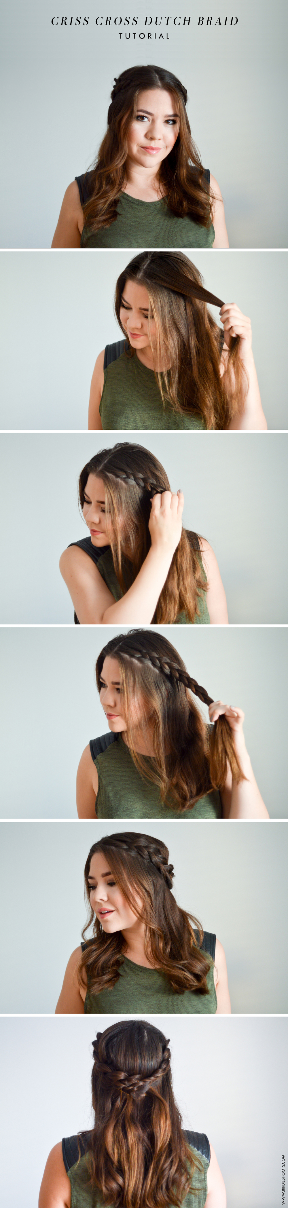 Crossed Dutch Braid Tutorial via. Birdie Shoots