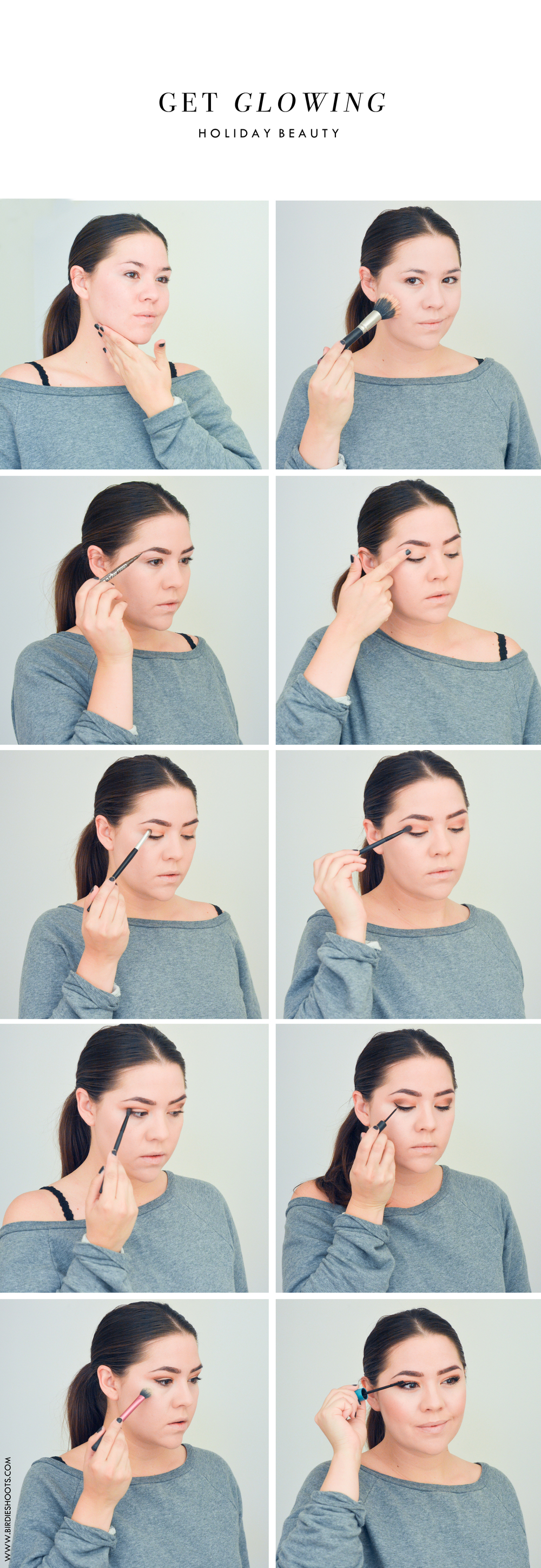 Holiday Beauty Tutorial via. Birdie Shoots