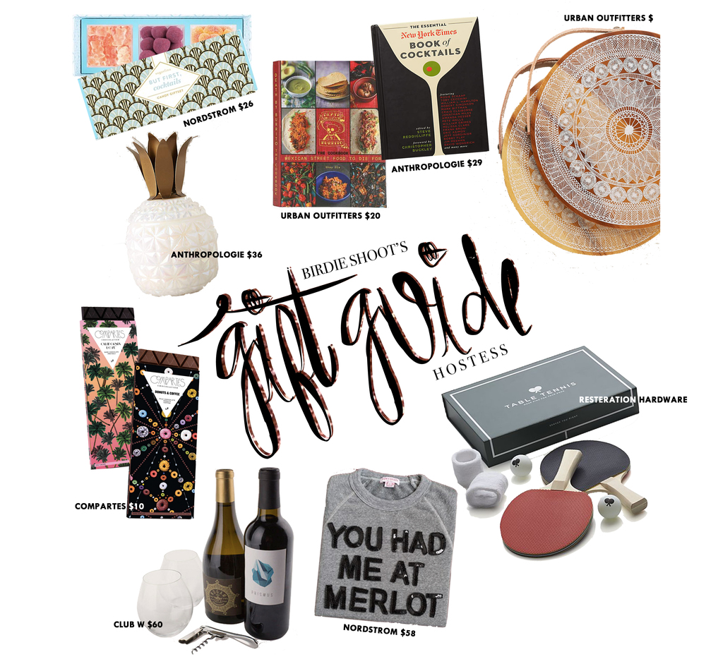 HOSTESS GIFT GUIDE VIA. BIRDIE SHOOTS