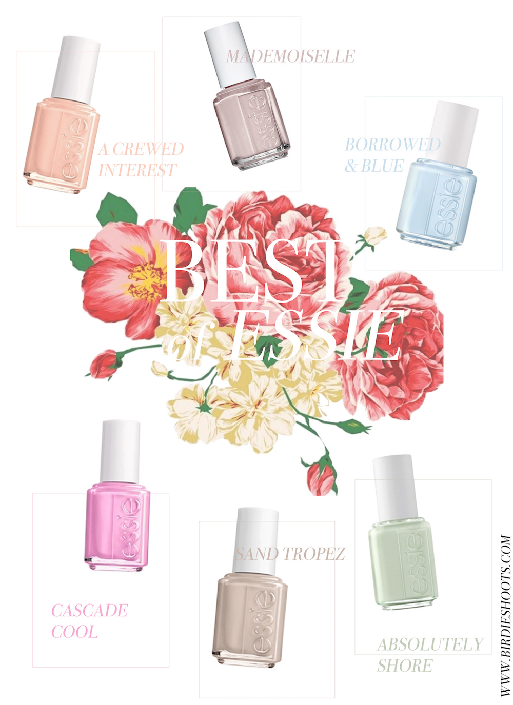 Best of Essie - Spring 2016 via. www.birdieshoots.com