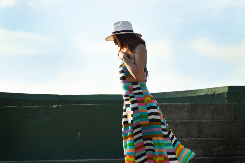 Mara Hoffman Striped Sun Dress via. www.birdieshoots.com